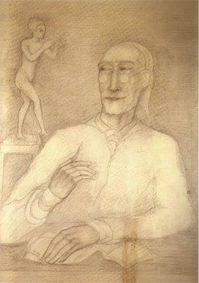 Retrato de André Gide en 1954